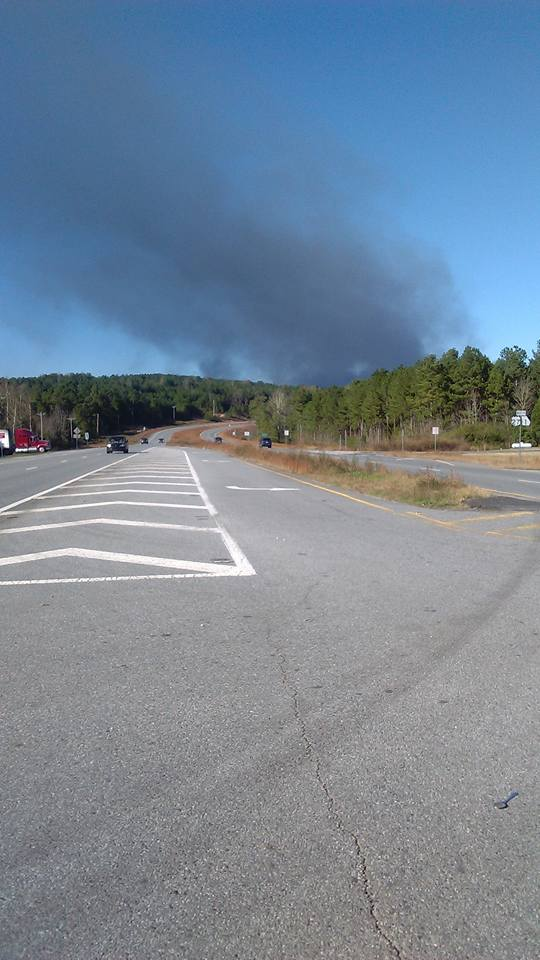 Barwick Fire As Seen From 27/151 Intersection in Trion / Angel Hardy Thompson