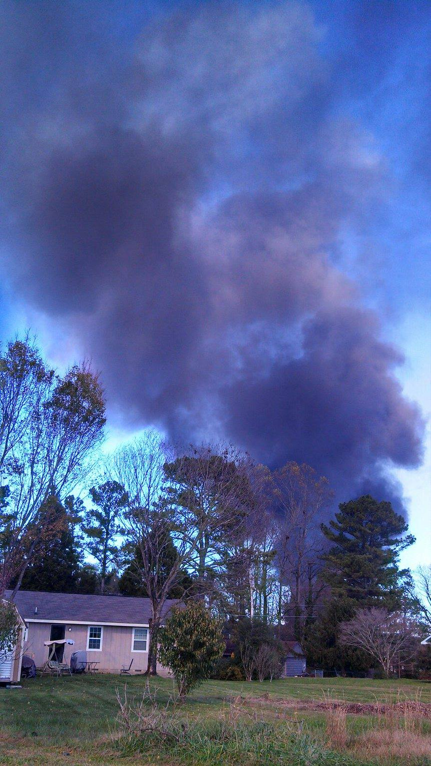 Barwick Fire As Seen From South Chattanooga St Neighborhood / Taylor Hightower