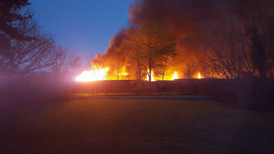 Barwick Fire - South Chattanooga St at Night / Sandra Ramey Brock