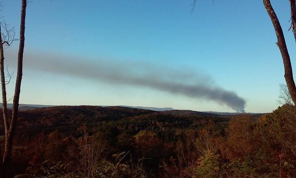 Barwick Fire As Seen From Taylor's Ridge in Summerville / Autumn Danyel Baggett