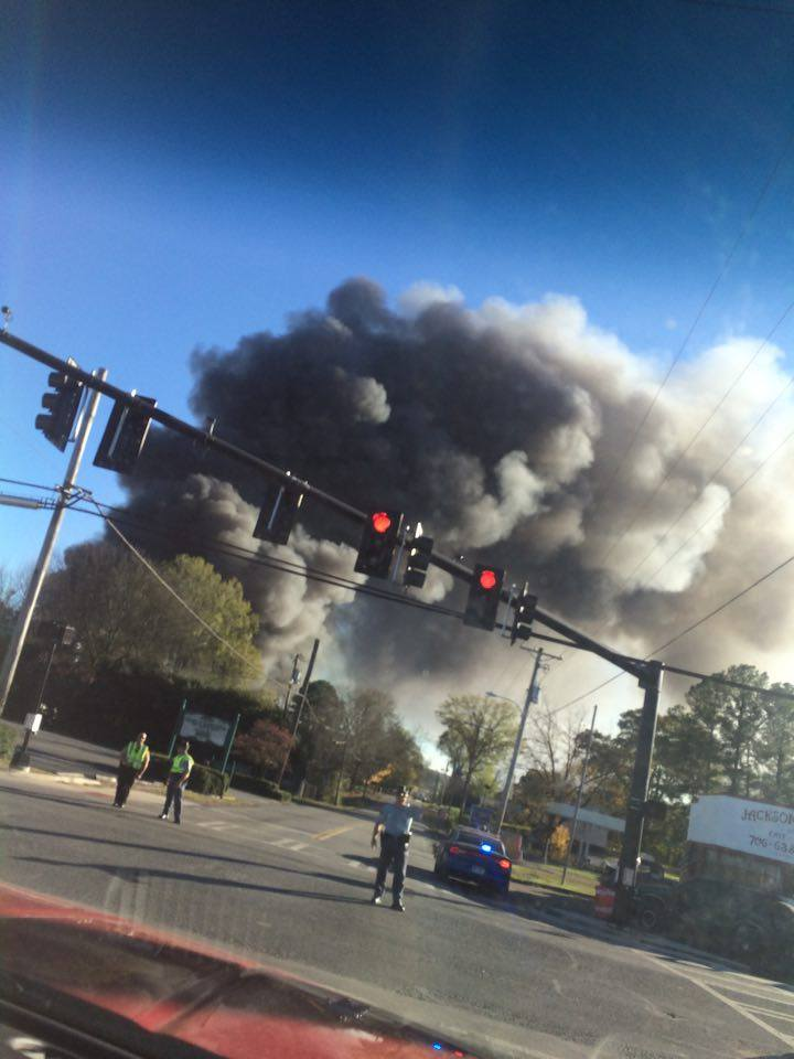 Barwick Fire As Seen From South Chattanooga St & West Main / Brooke Thomas