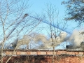 Barwick Fire - Ladder Truck Tackles Blaze / Sandra Ramey Brock
