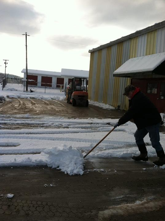 Clearing Snow at Co-Op