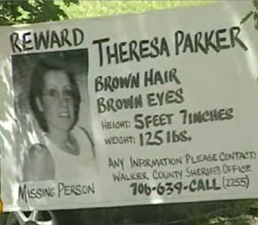 Theresa Parker Missing Sign