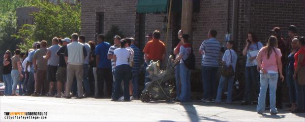 Job Fair Line in LaFayette