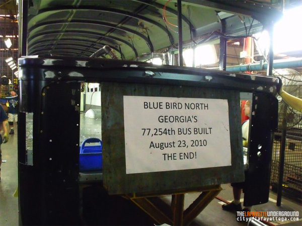 Final BlueBird Bus Produced in LaFayette
