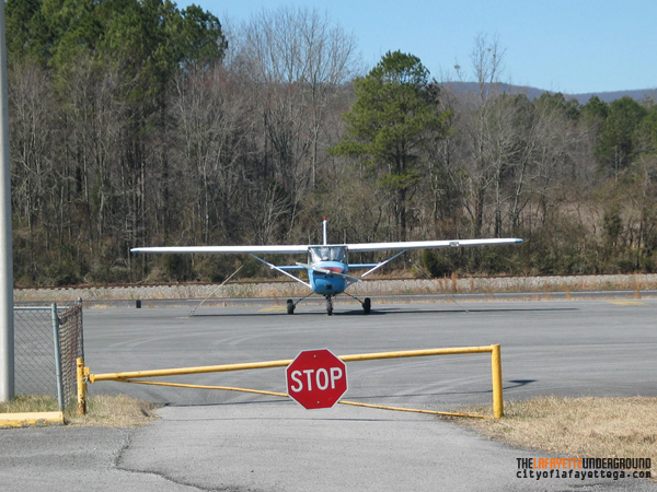 Plane at Barwick-LaFayette Airport