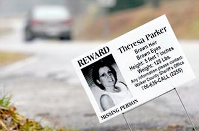Theresa Parker Reward Sign