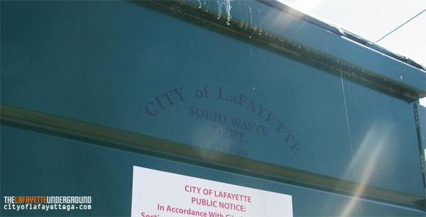 City of LaFayette Solid Waste Dumpster