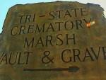 Crematory Sign