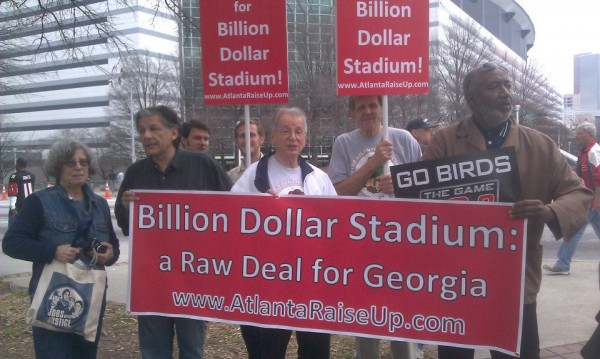 GA Dome Protest