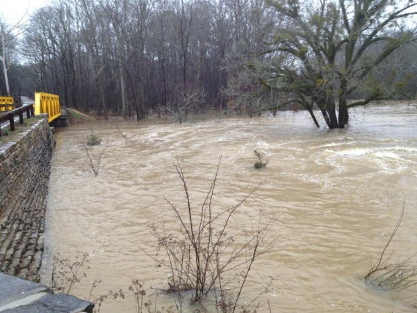 Flooding at Alexander Bridge in Chickamauga