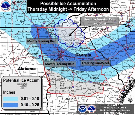 2013 Winter Forecast For Georgia