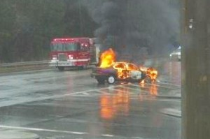 Walmart Car Fire