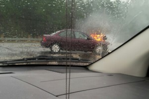 Walmart Car Fire