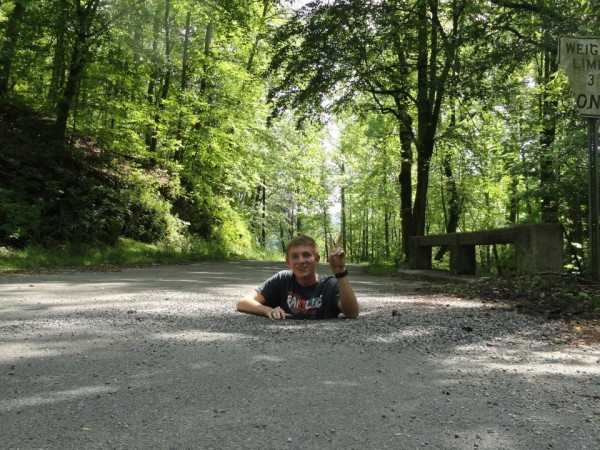 Crow Gap Rd Pothole