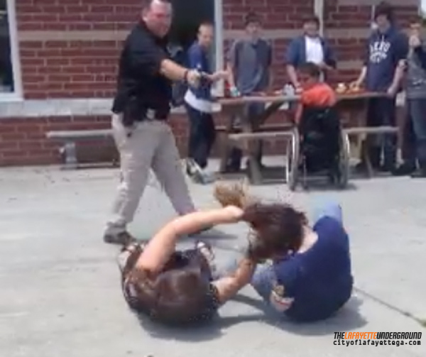 LHS Student Fight and Tasing