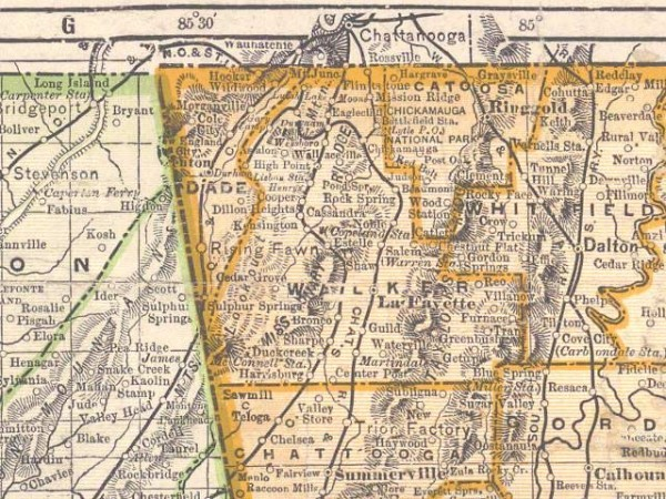 1899 Walker County Map