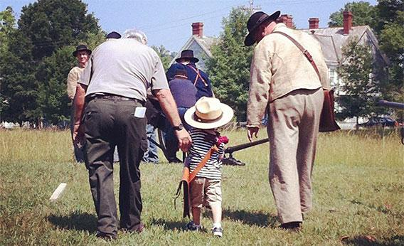 Gerry Allen at Chickamauga Battlefield