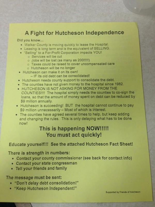 Hutcheson Employee Support Memo