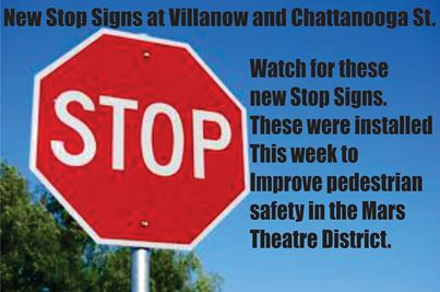 New 3 Way Stop on Chattanooga St.