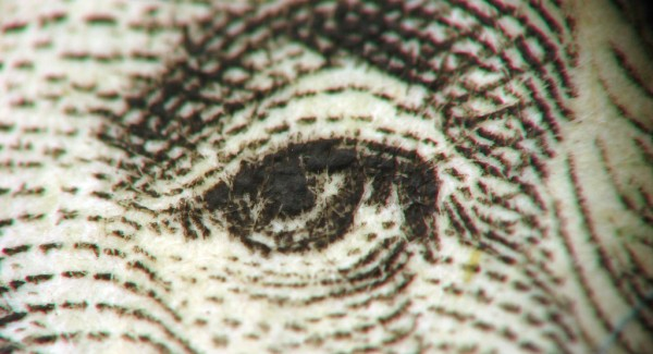 Dollar Bill Closeup