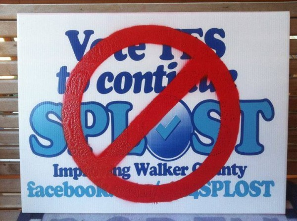 No SPLOST Sign