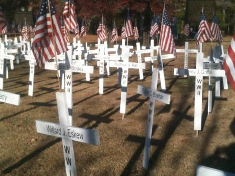 Veterans Day Crosses at Joe Stock Park