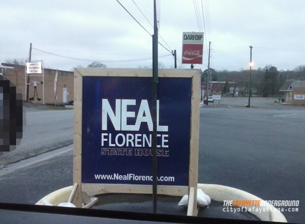 Neal Florence Sign at Dari-Dip