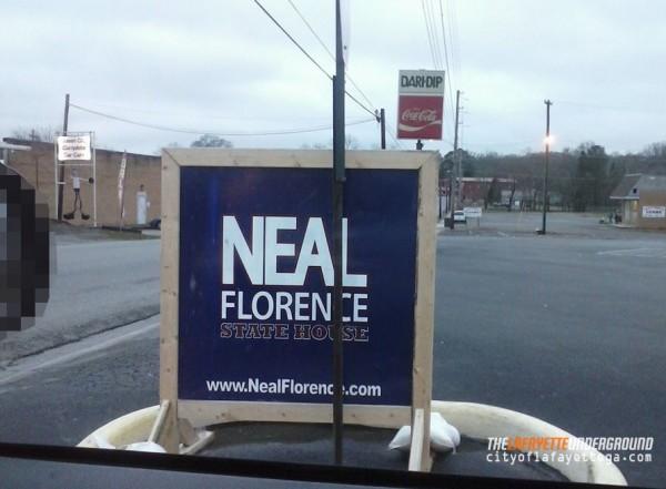 Neal Florence Sign at Dari-Dip