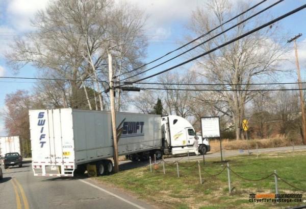 McLemore Street Truck Stuck