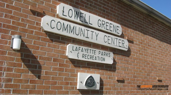 Lowell Greene Rec Sign