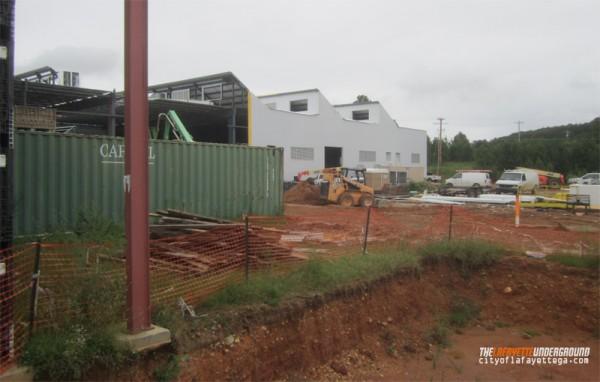 Construction at Nissin