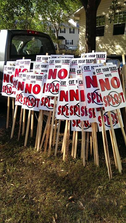 Pile of No-SPLOST Signs