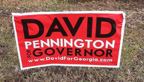 David Pennington Campaign Sign