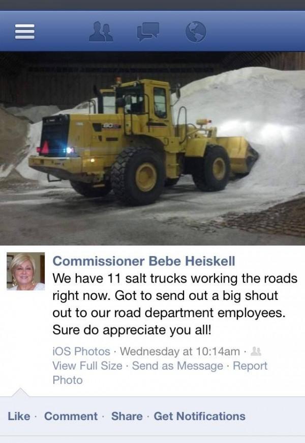 Commissioner Heiskell Road Salt Claims