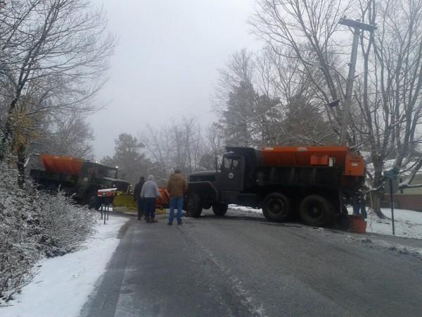 LaFayette Plow Trucks Stuck