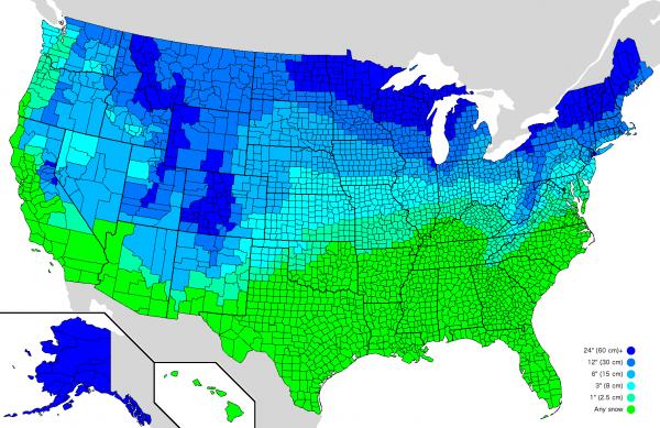 Snow Cancellation Map