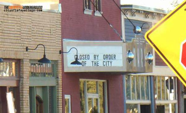 Mars Theater Closed