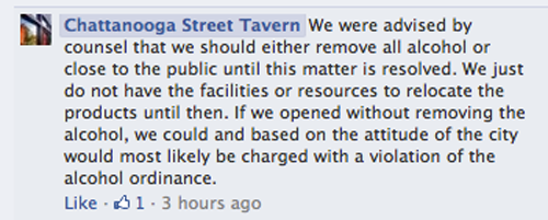 Chattanooga St Tavern Facebook