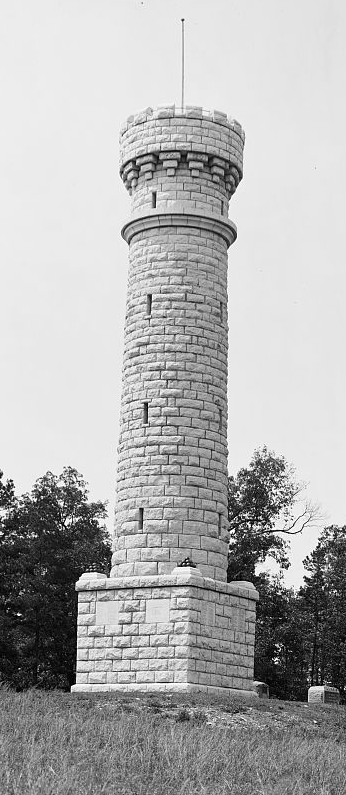 Wilder Tower Monument at Chickamauga Battlefield in 1900