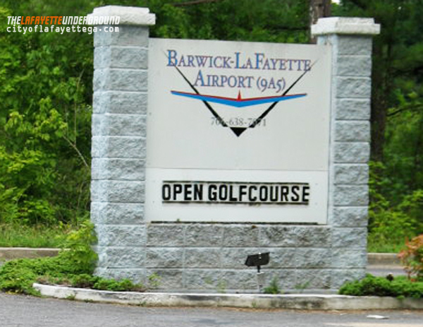 Barwick-LaFayette Airport Sign