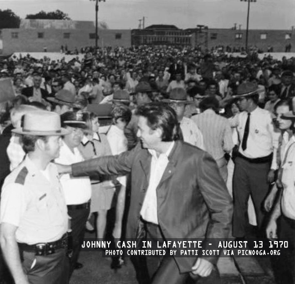 Johnny Cash in LaFayette - August 13 1970