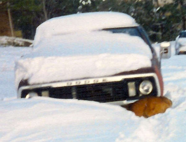 Blizzard of 1993 - Villanow Truck Under Snow