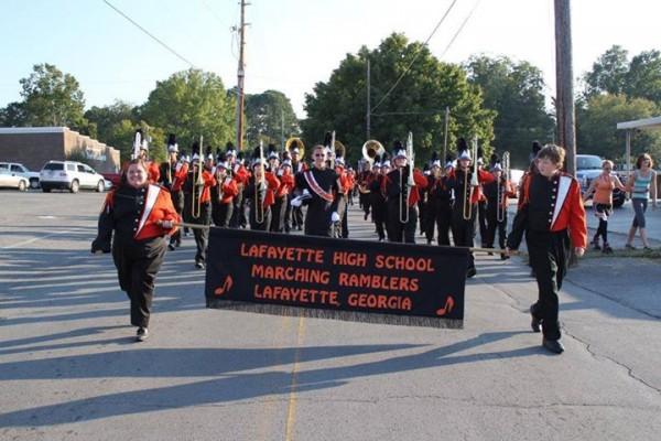 LHS Band on Cherokee Street