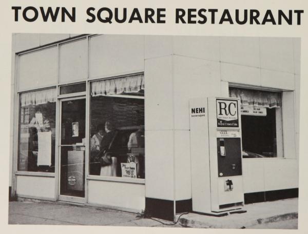 Town Square Restaurant, 1969