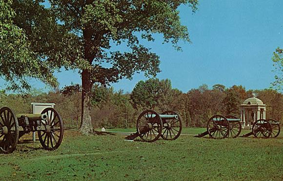 1960s Chickamauga Battlefield Postcard