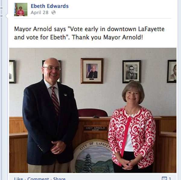 EBeth Edwards Andy Arnold Endorsement