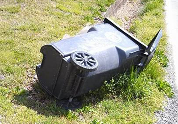 Flipped LaFayette Garbage Can