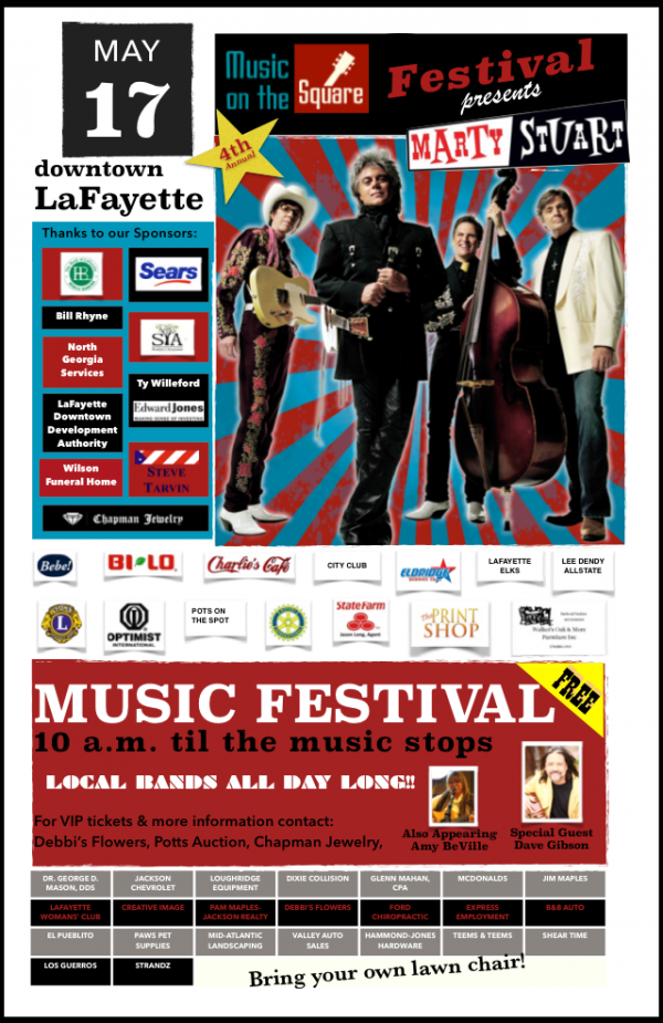 Music on the Square 2014 Poster